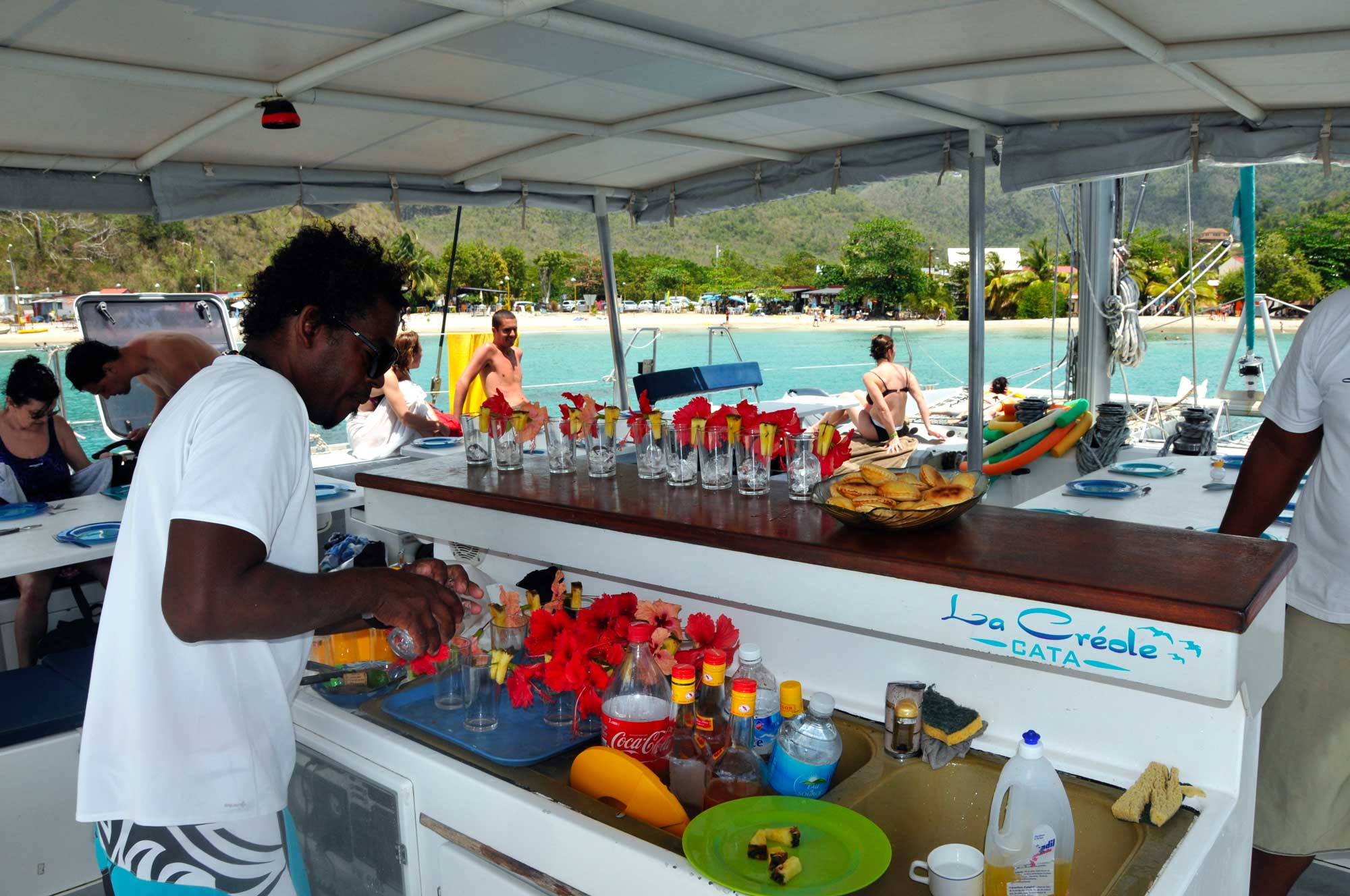 the Creole cata - rent catamaran Martinique cruising outing